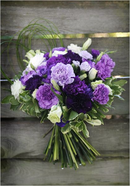 lavender and purple carnations