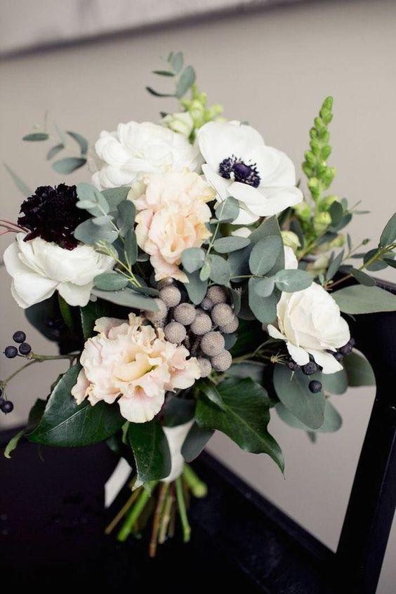 Gorgeous White Anemones Bouquet