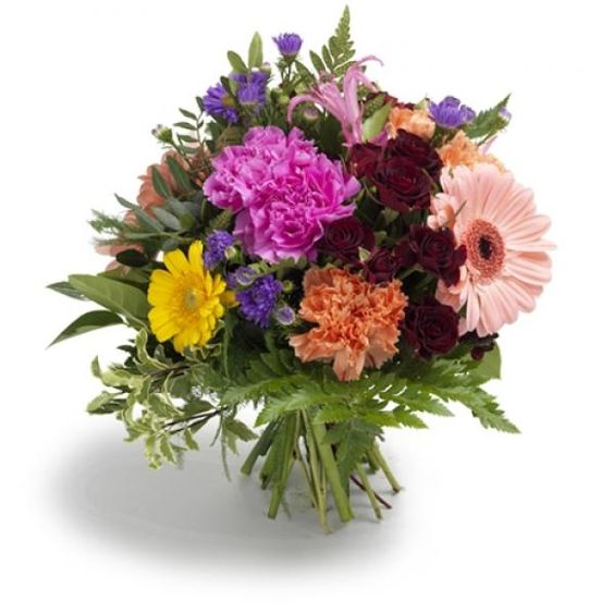 carnation and gerberas bouquet
