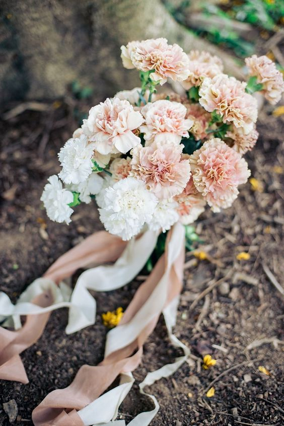 majestic peach carnation bouquet