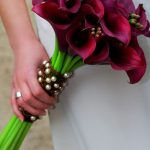 burgundy calla lily fall wedding bouquet