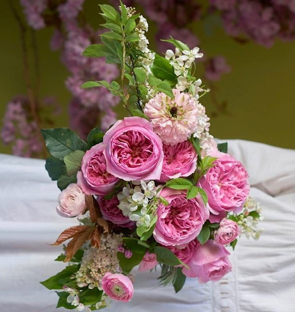 Garden Roses Table Arrangements