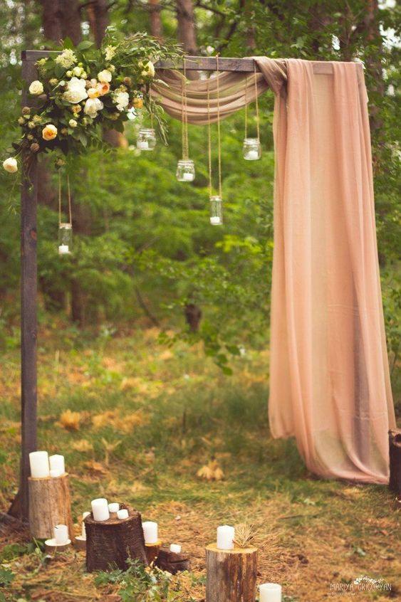creative elegant wedding arch